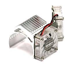 Integy RC Hobby 2961SILVER Twin Motor Cooling Fan + Heatsink 540/550