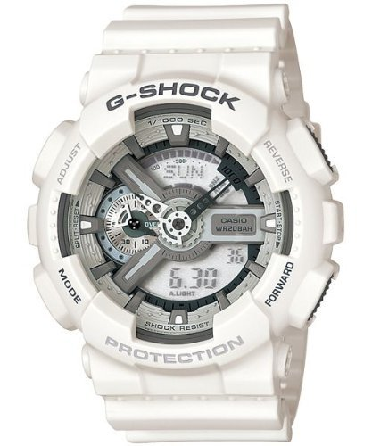 Casio Men&#8217;s GA110C-7ACR G-Shock Large White Analog-Digital Multi-Function Sport Watch