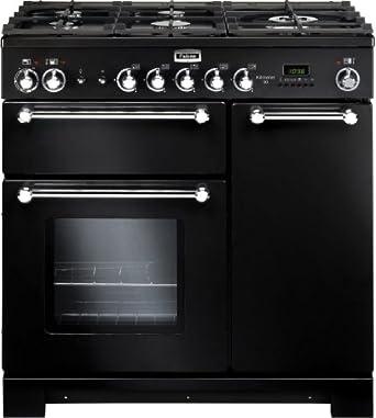 Falcon piano de cuisson dessus gaz kch 90 dfblc eu kitchener 90 gaz noir ma - Piano de cuisine falcon ...