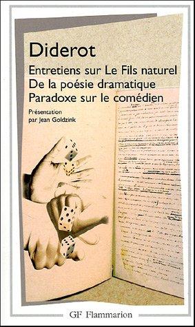 Entretiens Sur Le Fils Naturel De La Poesie Dramatique (French Edition)