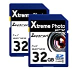 2 x 32GB Memory Cards SD SDHC Class10 64GB Total for Nikon Coolpix L120 digital camera camcorder