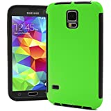 Galaxy S5 Case, MagicMobile® Dual Hard Hybrid Durable Shockproof Water Resistant Green Armor Two Pieces Cover...