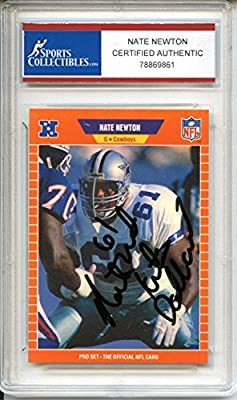Nate Newton Autographed Dallas Cowboys Trading Card