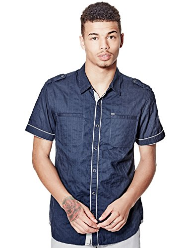 GUESS Mens Turner Dobby Short-Sleeve Shirt