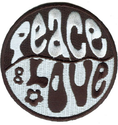 Application 60's Retro Peace and Love Patch