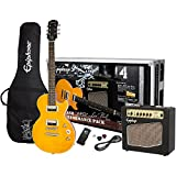 Epiphone PPGS-ENA2AANH3-US Electric Guitar Pack, Antique Natural