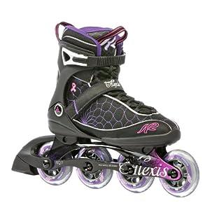 K2 Sports Women's Alexis Fitness 2012 Inline Skates (Black/Pink/Purple, 5)