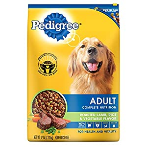 PEDIGREE Adult Roasted Lamb, Rice and Vegetable Flavor Dry Dog Food 17 Pounds