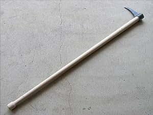 鳶口 タタキ付 鳶 寸0 内径30mm×全長約160mm 樫柄1350mm付 とび口 トビ口