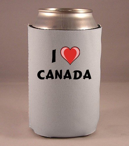 Custom Beverage Can / Bottle Cover (Coolie) with I Love Canada