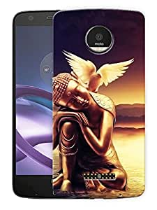"Humor Gang Calm Buddha Scenery Printed Designer Mobile Back Cover For ""Motorola Moto Z Force"" (3D, Matte Finish, Premium Quality, Protective Snap On Slim Hard Phone Case, Multi Color)"