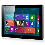 AOSON 10.1' Windows 10 OS + Office 365 Tablet PC Intel Bay Trail-T Z3735G Quad Core 1.33GHz 1GB+16GB Memory Dual Camera 1280*800 IPS Touch Screen Bluetooth Wifi R12-1 Tablet Black rear