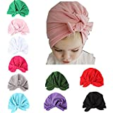 Udolove Baby Headband Set- Girl Soft Turban Knot Rabbit Headwrap Hospital Hat (10pcs Cotton Rabbit Set)