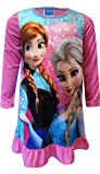 Disney Frozen Anna and Elsa Snowflake Pink Nightgown for Little Girls