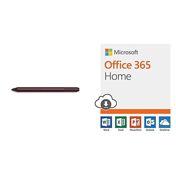 Microsoft Surface Pen - Burgundy with Office 365 Home | 12-month subscription, up to 6 people, PC/Mac Download