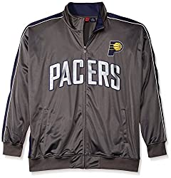 NBA Indiana Pacers Men's Reflective Track Jacket, 3X, Charcoal/Navy