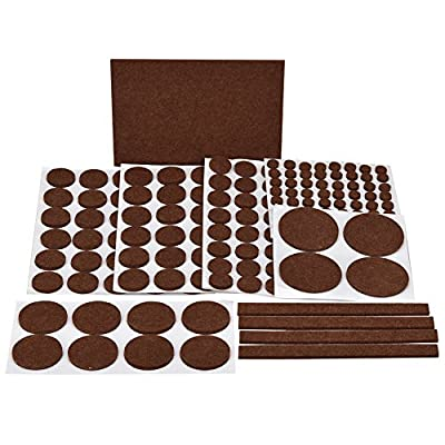 eLander Furniture Scratch Pads - 181 Piece - ALL SIZES - Felts Pads with Durable Self-Stick Adhesive to Protect Wood, Laminate, Tile Flooring. Ultra Strong Adhesive, Heavy Duty, Easy to Peal & Stick