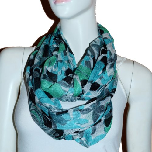 Fashion Light Weight All Season Floral Printed Infinity Scarf (Fl)