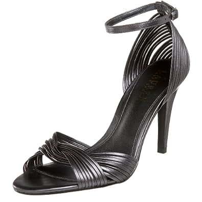 Lauren Ralph Lauren Women's Astor Dress Sandal,Graphite Metallic Kidskin,9.5 M US