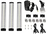 Sunthin Daylight Dimmable LED Under Cabinet Lighting Set of 3, Touch Dimmer Included