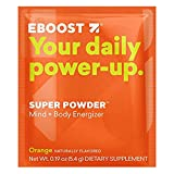 EBOOST SUPER POWDER Mind + Body Energizer, Orange Flavor | Blend of Vitamins, Electrolytes & Antioxidants for Steady Energy and Focus (20 Count) (Tamaño: 20 Count)