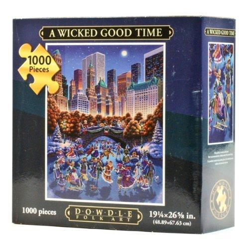 Jigsaw-Puzzle-Central-Park-A-Wicked-Good-Time-1000-Pc-By-Dowdle-Folk-Art-by-Dowdle-Folk-Art