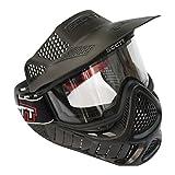 STARDUST サバイバルゲーム バイクに最適 フェイスガード ミリタリー フェイスマスク 警備 バイザーヘルメット (SWAT ブラック) SD-MASK-SCCTT98-BK