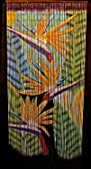 Bamboo Beaded Hawaiian Tropical Bird of Paradise Flower Decor Door Way Doorway Curtain Room Divider…