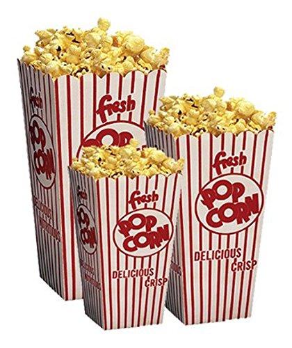 Retro Popcorn Scoop Box Small - 50ct (Popcorn Cardboard compare prices)