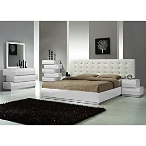 Milan platform bedroom set bedroom for Bedroom furniture amazon