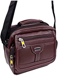 Stylish Faux Leather Small Messenger Office Cash Sling Bag By-Widnes