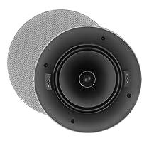 OSD Audio ACE800 8-inch 120-Watt Trimless Thin Bezel Polypropylene In-Ceiling Speaker Pair