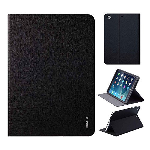 iPad Air Case - OZAKI O!coat Adjustable Multi Angle Slim Smart Case For Apple iPad Air / Auto Sleep  Wake / Front and Back Protection / Flexible Cover / Convenient Stand / Anti-scratch - Black by Ozaki [並行輸入品]