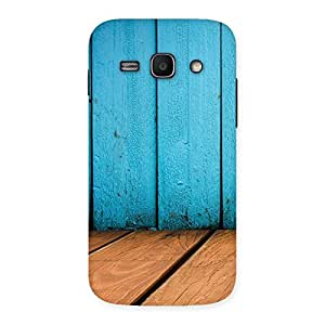 Special Wood Cyan Back Case Cover for Galaxy Ace 3