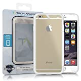 iPhone 6 Case, Tech Armor iPhone 6 Case, 4.7 inch - FlexProtect Air Frosted Clear/Clear Fingerprint Resistant Scratch Resistant Lifetime Warranty