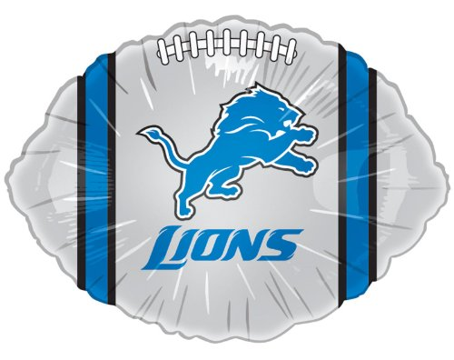 "Anagram International Detroit Lions Flat Party Balloons, 18"", Multicolor"