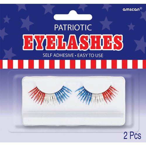 Patriotic Eyelashes 1 Pair