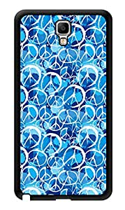 """Humor Gang World Peace In Blue Printed Designer Mobile Back Cover For """"Samsung Galaxy Note 3"""" (3D, Glossy, Premium Quality Snap On Case)"""