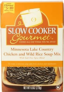 Slow Cooker Gourmet Minnesota Lake Country Chicken and Wild Rice Soup Mix, 9.5 Ounce