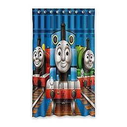 Smiling You Custom Cartoon Thomas&Friends Pattern Living room Window Curtain 50\