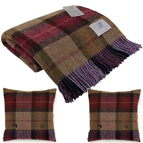 bronte-skye-check-mulberry-pure-new-shetland-wool-blanket-2-x-feather-filled-cushions-made-in-uk-moo