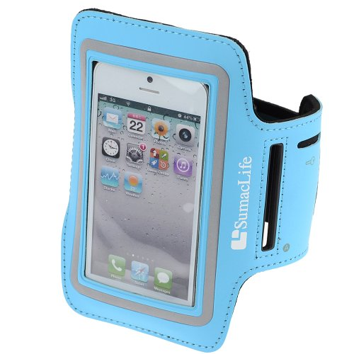Sumaclife Sporty Armband With Key Holder For Iphone 5 / Iphone 5S / Iphone 5C (At&T,T-Mobile,Verizon,Sprint) / Ipod Touch 5 (Blue)