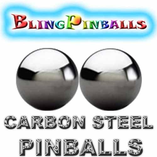 2 carbon steel premium Bling mirror finish pinballs (Pack of 2)