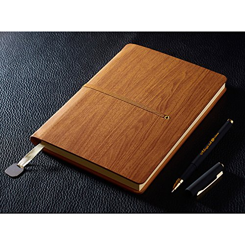 pu-leather-notebook-izbuy-retro-vintage-diary-memo-daily-use-gift-for-men-women-200-lined-beige-page