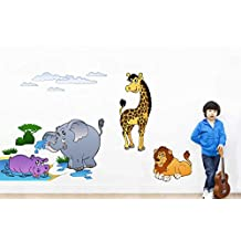 Rawpockets Baby Animals Jungle Story Wall Decal Sticker