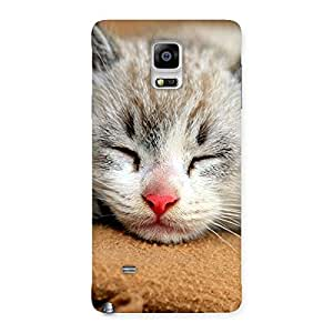 Enticing Sleeping Cat Multicolor Back Case Cover for Galaxy Note 4