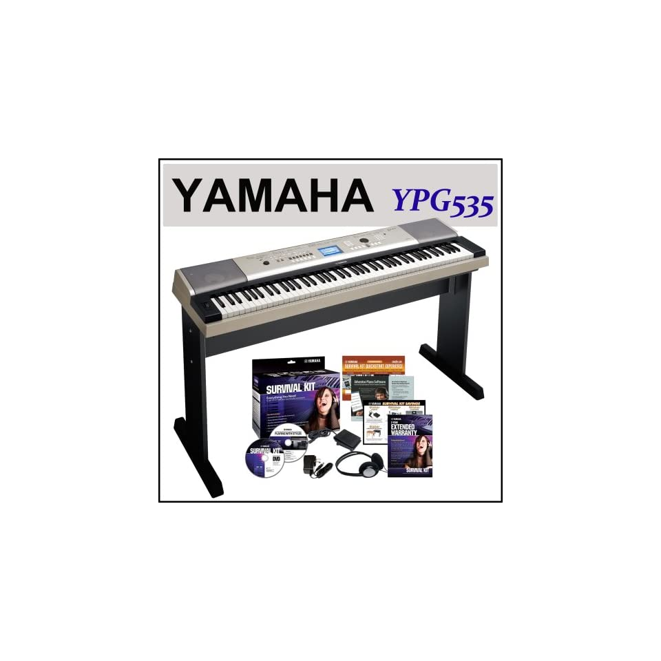 Yamaha YPG 535 88 key Portable Grand Graded Action USB Keyboard with Yamaha SK88