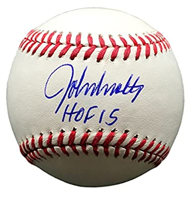 John Smoltz Atlanta Braves Signed Rawlings Official MLB Baseball HOF 15 JSA