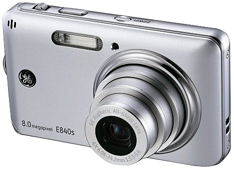 Cheap GE-E840s Slim Line 8MP Digital Camera with 4X Optical Zoom (Silver)