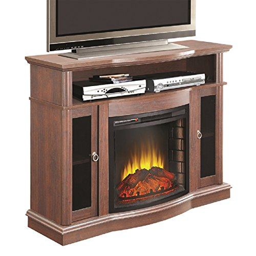 Comfort Glow Ef7525Rkd Beckonridge Full Size Electric Fireplace With Media Center In Mahogany, 1500-Watt